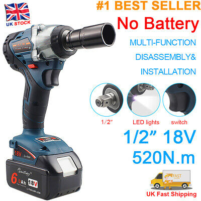 Replace For Makita 18v Li-ion LXT Brushless 1/2in Cordless Impact Wrench Tools • 52.89£