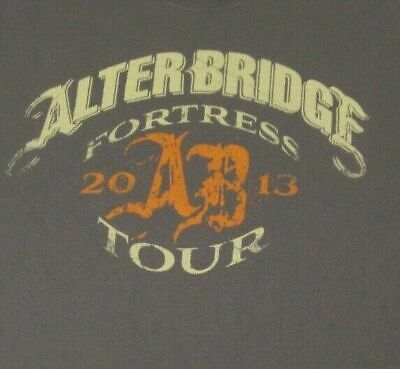 £21.21 • Buy Alterbridge 2013 Fortress Tour Double Sided- Gray Xl T-shirt-a988