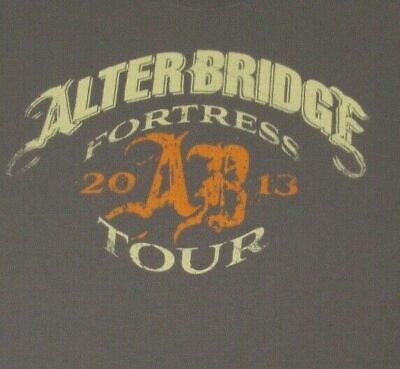 £22.27 • Buy Alterbridge 2013 Fortress Tour Double Sided- Gray Xl T-shirt-a988