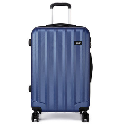 Navy Set 20'24'28' Hard Shell  Suitcase Luggage Spinner Lightweight 4 Wheels Bag • 24.99£