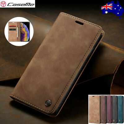 AU9.85 • Buy Magnetic Leather Wallet Card Case Samsung Note S21 S20 FE S10 5G S9 S8 Plus S7e