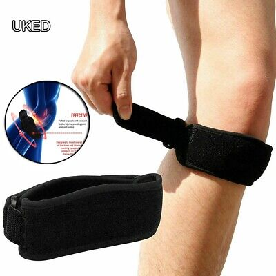 Adjustable Patella Tendon Strap Knee Support Jumpers Runners Pain Band UKED • 2.80£