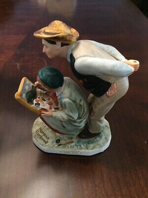 $ CDN179.44 • Buy Dave Grossman Designs Norman Rockwell Country Critic Porcelain Figurine 1983