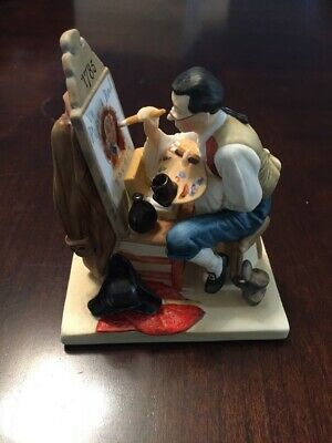 $ CDN259.50 • Buy Gorham Norman Rockwell Old Sign Painter Figurine 1986 Limited Edition