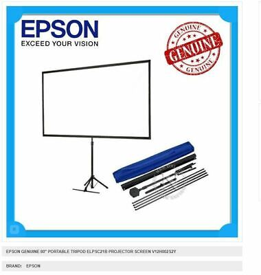 AU110 • Buy EPSON 80  Portable Projector Screen Tripod With Shoulder Bag V12H002S2Y