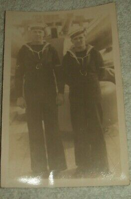 Great War Era Photograph Of Two Naval Ratings Assigned To HMS Tiger. • 4.50£