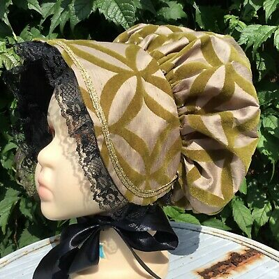 Girls VICTORIAN GREEN BONNET Various Style Oliver Book Day REGENCY Christmas HAT • 9.99£