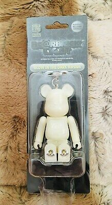 $59.99 • Buy Medicom Bearbrick Bear Brick Be@rbrick Glow In The Dark Keychain W/ Light Japan