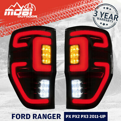 AU179.99 • Buy Smoked LED Tail Lights For Ford Ranger PX MK2 Wildtrak T6 T7 T8 2011-ON