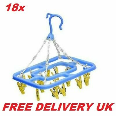 Clothing Dryer Round Sock Dryer Laundry Cloth 18x Airer With Sturdy Hanging Hook • 3.29£