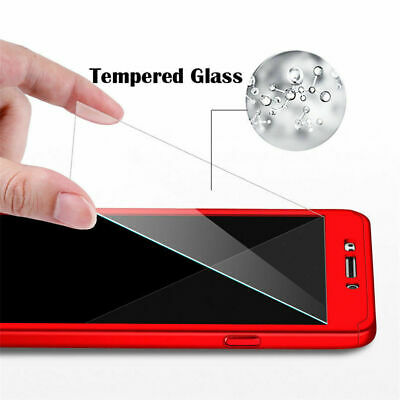 AU4.96 • Buy Protective Phone Case Full PC Cover + Tempered Glass For Samsung  J3 J5 J7 Pro