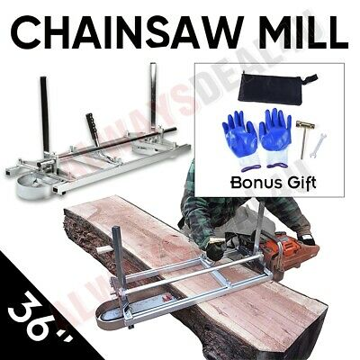 £80.96 • Buy Aluminum Steel Chainsaw Mill For Saws 18 -36  Bar Slabbing Planks Lumber Ripping