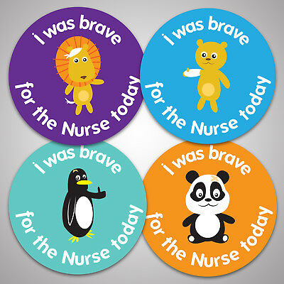 144 Brave For Nurse Reward Stickers For Kids Children School Award, 30mm Size  • 2.19£