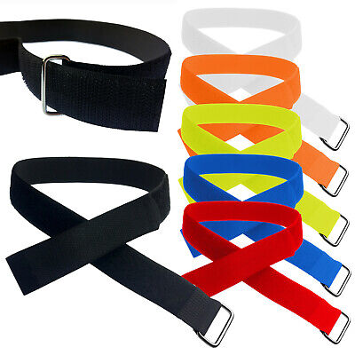 25mm Adjustable & Reusable Ring Straps With Metal Buckle & VELCRO® Brand Tape • 2.99£