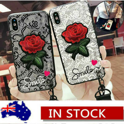AU13.19 • Buy For IPhone XS MAX XR X 8 Plus 7 6s Shockproof Rose Cute Girls Fashion Case Cover