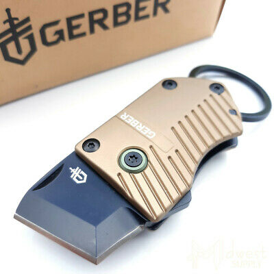 Gerber Key Note Linerlock Scraping And Cutting Knife Black Stainless Steel Blade • 21.99$