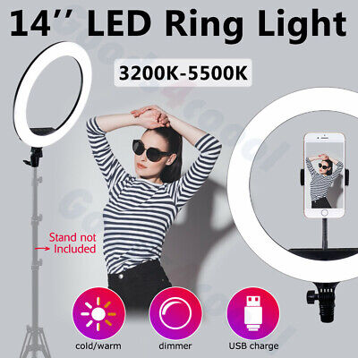 Video 14  LED Ring Light Dimmable Lighting Kit Phone Selfie Makeup Youtube Live • 29.93£