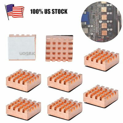 $8.58 • Buy 8pcs 12x14mm Pure Copper RAM Heat Sink Cooling Fin Heatsink For Video Card CPU