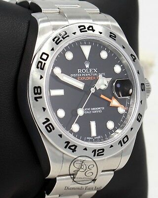 $ CDN11251.83 • Buy Rolex Explorer II 216570 Steel Black Dial 42mm Men's Watch PAPERS MINT CONDITION