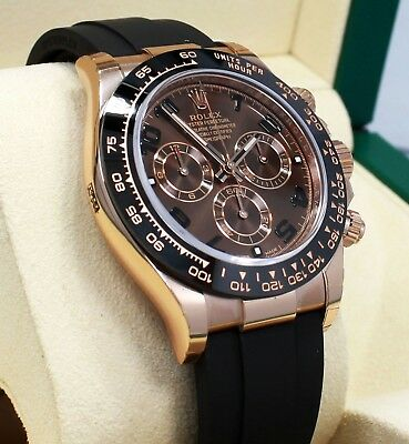 $ CDN44802.73 • Buy Rolex Daytona 116515LN 18K Rose Gold Cosmograph Chocolate Oysterflex B/PAPER NEW