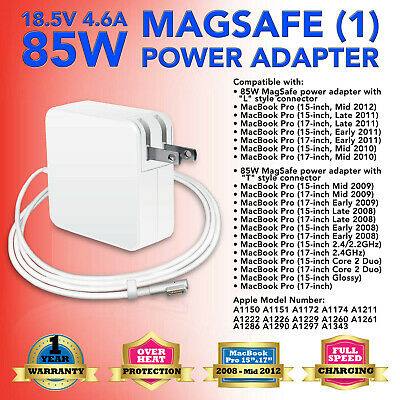 $15.94 • Buy 85W AC Adapter Power Supply Charger For MacBook Pro 15  17  A1286 A1343 A1172 US