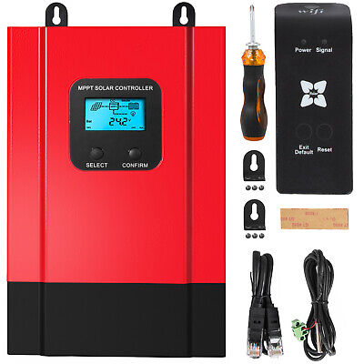 £121.97 • Buy VEVOR MPPT Solar Charge Controller WIFI 40A LCD Display Battery Charger Regular