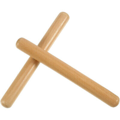 £3.46 • Buy 1Pair Wooden Musical Instrument Percussion Rhythm Sticks Tool For Kids T