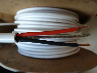 Pirelli FP200 Gold 2 Core 2.5mm + Earth White Fire Resistant Cable Red & Black • 1.49£