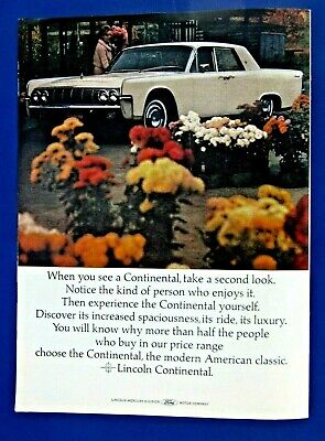 $5.95 • Buy 1964 Lincoln Continental Convertible Original Print Ad 8.5 X 11