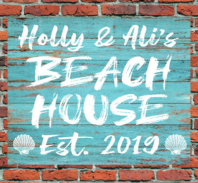 Personalised Beach House Metal Sign Wedding Housewarming Holiday Gift Present • 7.99£