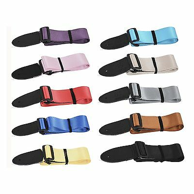 Budget Guitar Strap Childrens Kids UK Sleek Smooth Shiny Deluxe Quality Thread • 4.99£