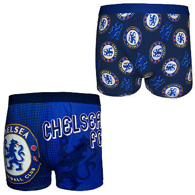 Chelsea FC Official Football Gift Mens Crest Boxer Shorts Blue • 5.99£