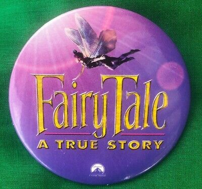 FAIRYTALE: A TRUE STORY Promotional 1997 Movie Pin Back Button • 2.39£