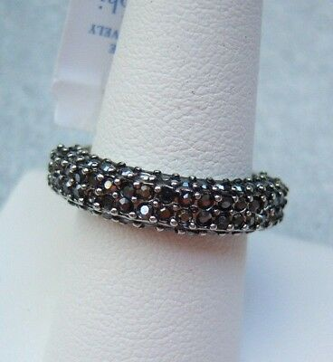 $ CDN20.37 • Buy Lia Sophia Hematite Cut Crystal Kiam Family Band Ring New Size 7 8 RV $66