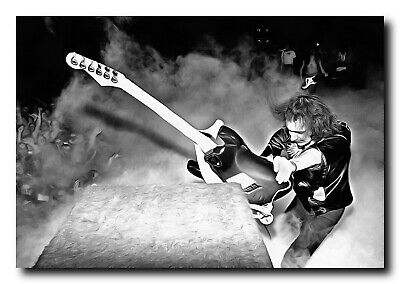 $17.99 • Buy Ritchie Blackmore Poster 13x19 Fine Art Canvas Black And White Print - Wall Art