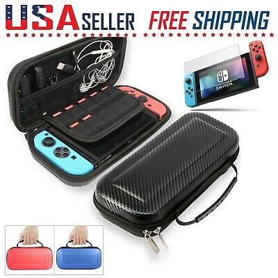 $9.99 • Buy Nintendo Switch Carrying Case Carbon Fiber Hard Shell Portable Pouch Travel Bag