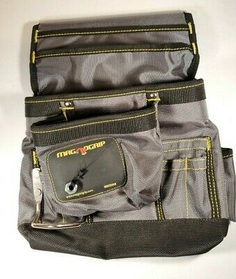 $19.99 • Buy Magnogrip Magnetic Tool Pouch With Belt (10 Pockets) #002-412