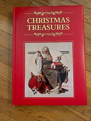 $ CDN39.99 • Buy Christmas Treasures Book Oversize Padded Leather Bound Norman Rockwell