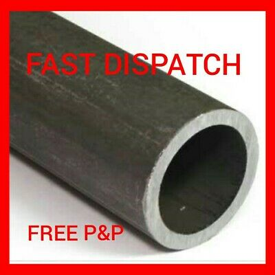 £8.50 • Buy 48mm X 3mm Mild Steel Circular Hollow Metal Tube Pipe Section Cut Lengths [chs]
