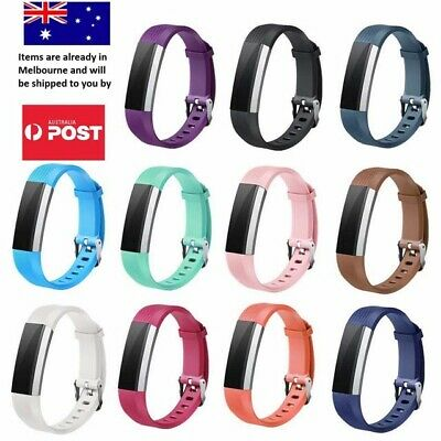 AU5.95 • Buy New Replacement Silicone Band Secure Metal Buckle Fitbit Alta HR / Ace