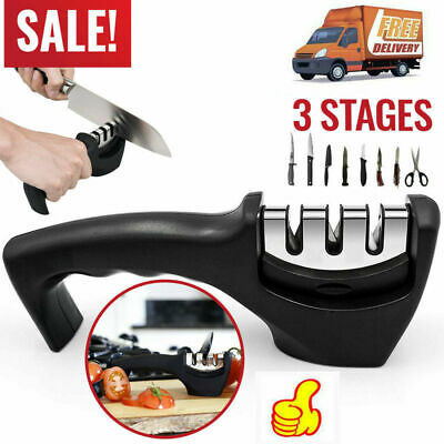 $4.25 • Buy KNIFE SHARPENER Professional Ceramic Tungsten Kitchen Sharpening System Tools