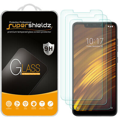 AU12.11 • Buy [3-Pack] Supershieldz Tempered Glass Screen Protector For Xiaomi Pocophone F1