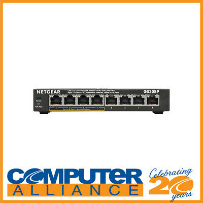 AU109 • Buy 8 Port Netgear GS308P Gigabit Network Switch With Power Over Ethernet