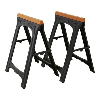 AU119 • Buy 2 PACK Craftright Folding Sawhorse Saw Horse Work Bench Collapsible Lightweight