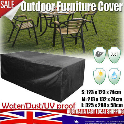 AU26.99 • Buy 3 Sizes Outdoor Patio Furniture Cover Garden Table Chair Shelter Sun Protector
