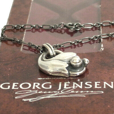 Auth VTG GEORG JENSEN Pendant Of The Year 1999 Tulip Necklace Sterling Silver 92 • 143.55£