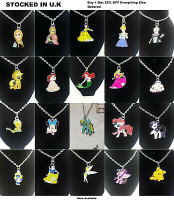 Disney Cartoon Jewellery My Little Pony Snow White Bambi Frozen Pendant Necklace • 3.49£