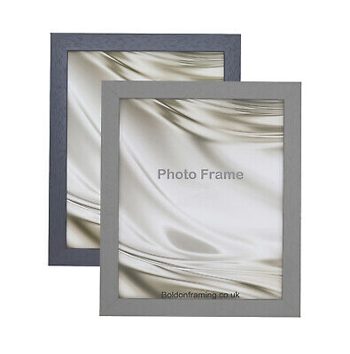 £7.35 • Buy Genuine Wood Picture Photo Poster Frame 22mm Deep Frames 2 Colours Multi Sizes