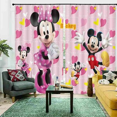 £100.52 • Buy Bless Big Mickey Mouse 3D Curtain Blockout Photo Printing Curtains Drape Fabric