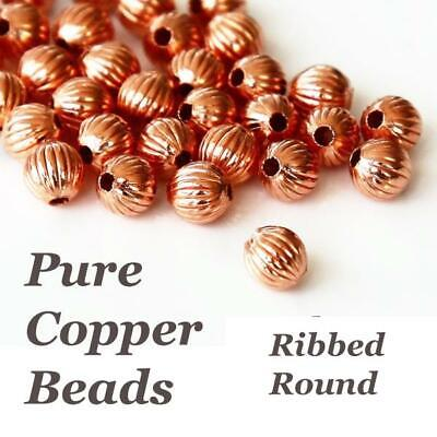 £2.20 • Buy Pure Genuine Copper Beads, Choose Seed Bead, Round, Oval, Bicone, Spacer, Accent